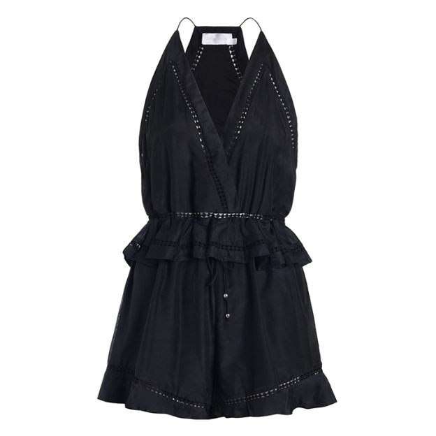 Zimmermann Porcelain Flounce Playsuit